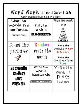 word work and activity sheets! | Word work | Word work, Word work ...