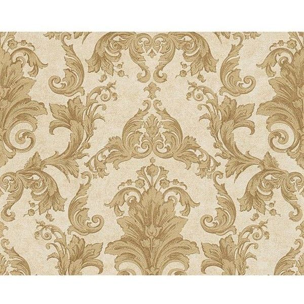 Versace Home Barocco Wallpaper (€115) ❤ liked on Polyvore featuring home, home decor, wallpaper, beige, cream wallpaper, versace, removable wallpaper, versace home decor and beige wallpaper