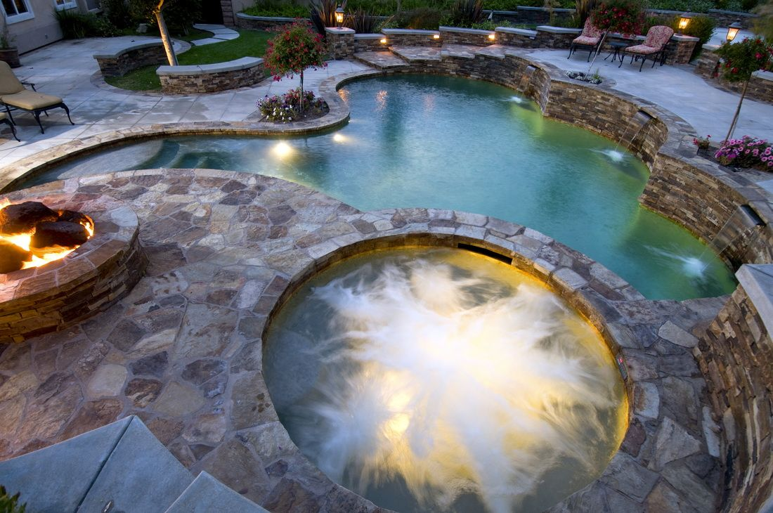 Spa pool fire pit landscape layout this pin re pin is for Pool layout design