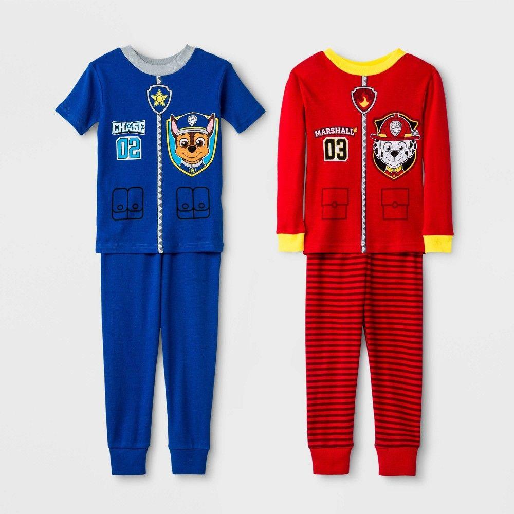 Boys Kids Official Paw Patrol Chase /& Marshall Short Sleeve Summer Pyjamas PJs