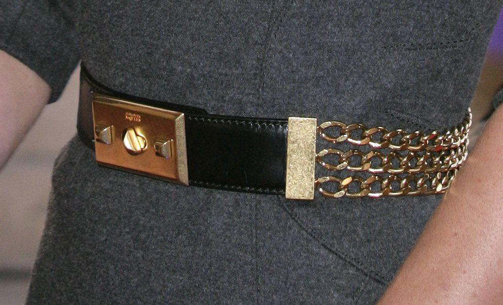 Alexander McQueen chain belt close up