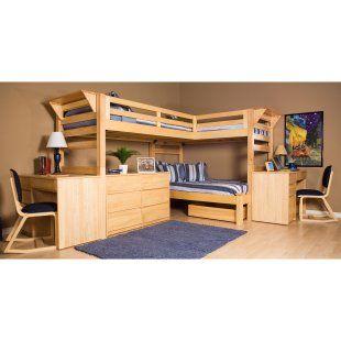 Graduate Triple Lindy Twin Xl Loft Bed Full 3rd Bed Kids