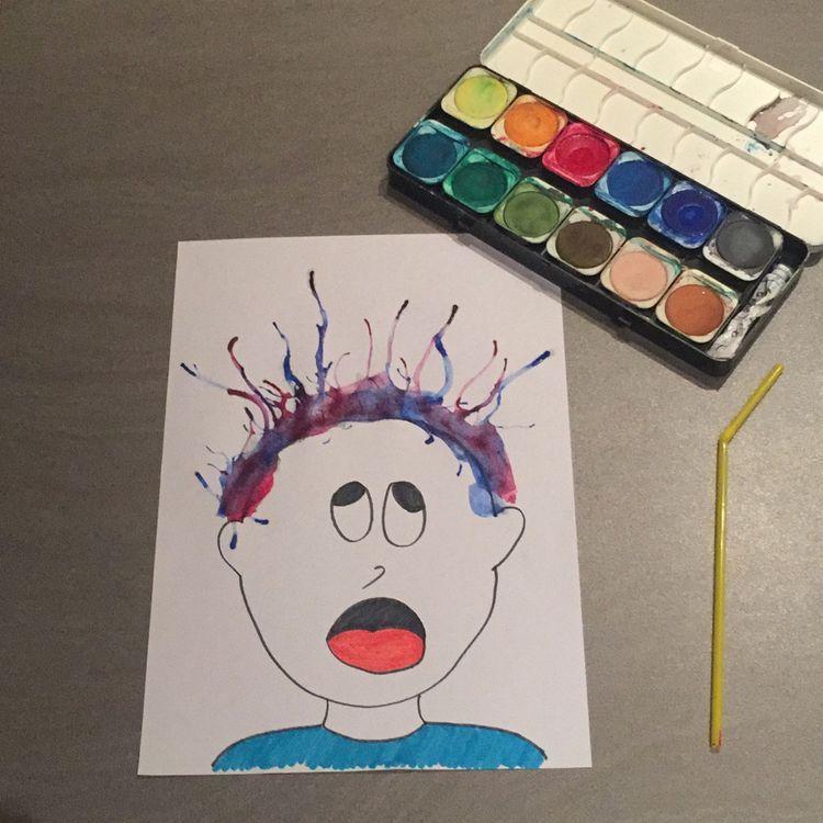 Tipss Und Vorlagen Haus Mit Kinderhandwerk Aquarell Projekt Farben Kindergarten Kinder Handwerk Kinder