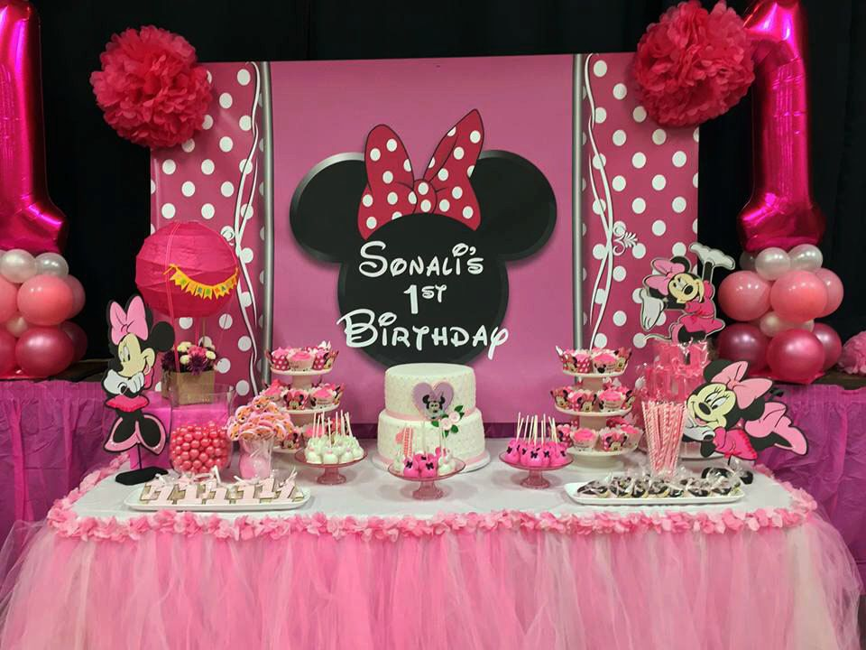 Minnie Mouse Inspired Tall Standing Table Decoration Centerpiece