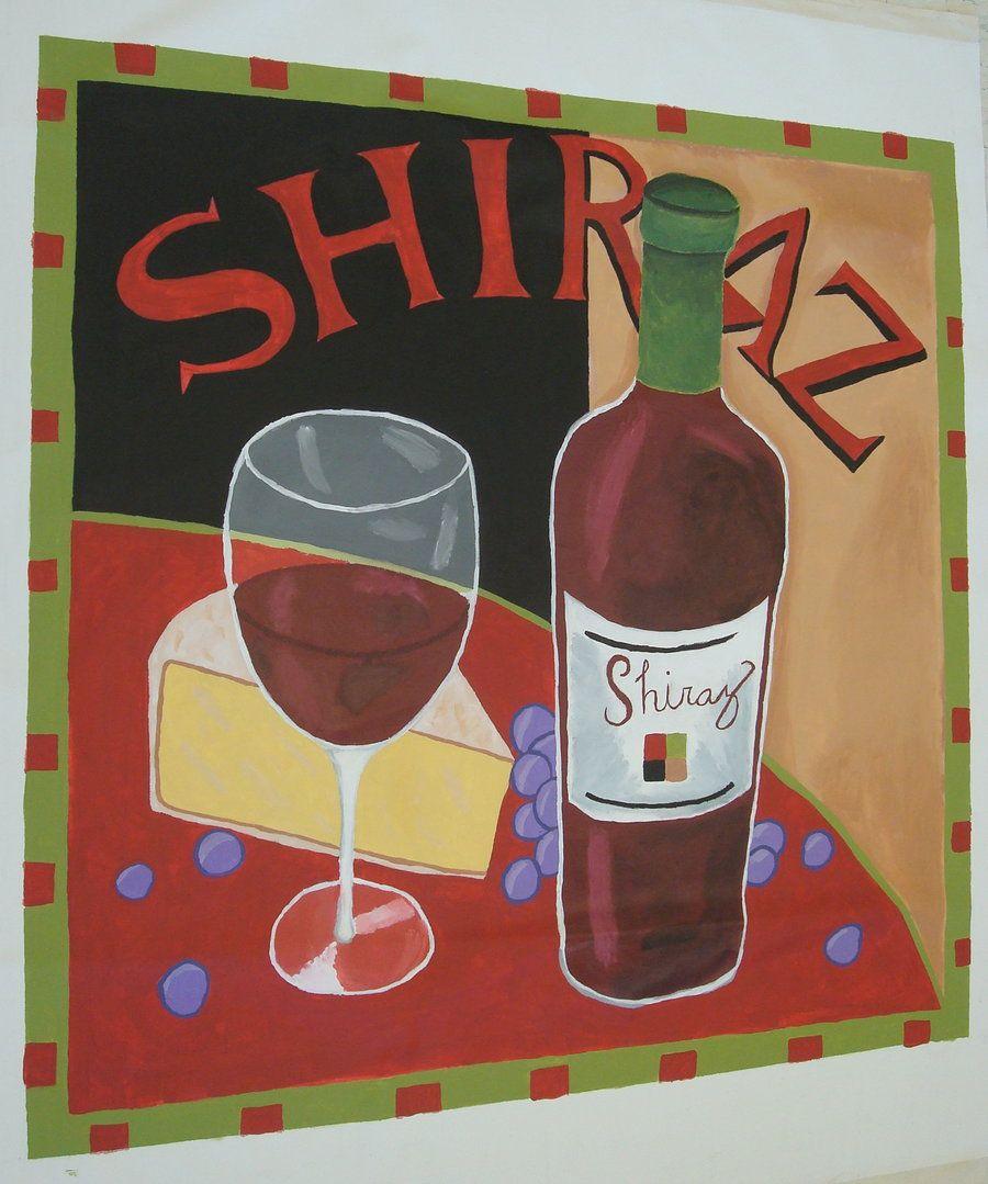 Shiraz Vintage Wine Poster By Sushisprinkles Deviantart Com On Deviantart Wine Poster Vintage Wine Wine