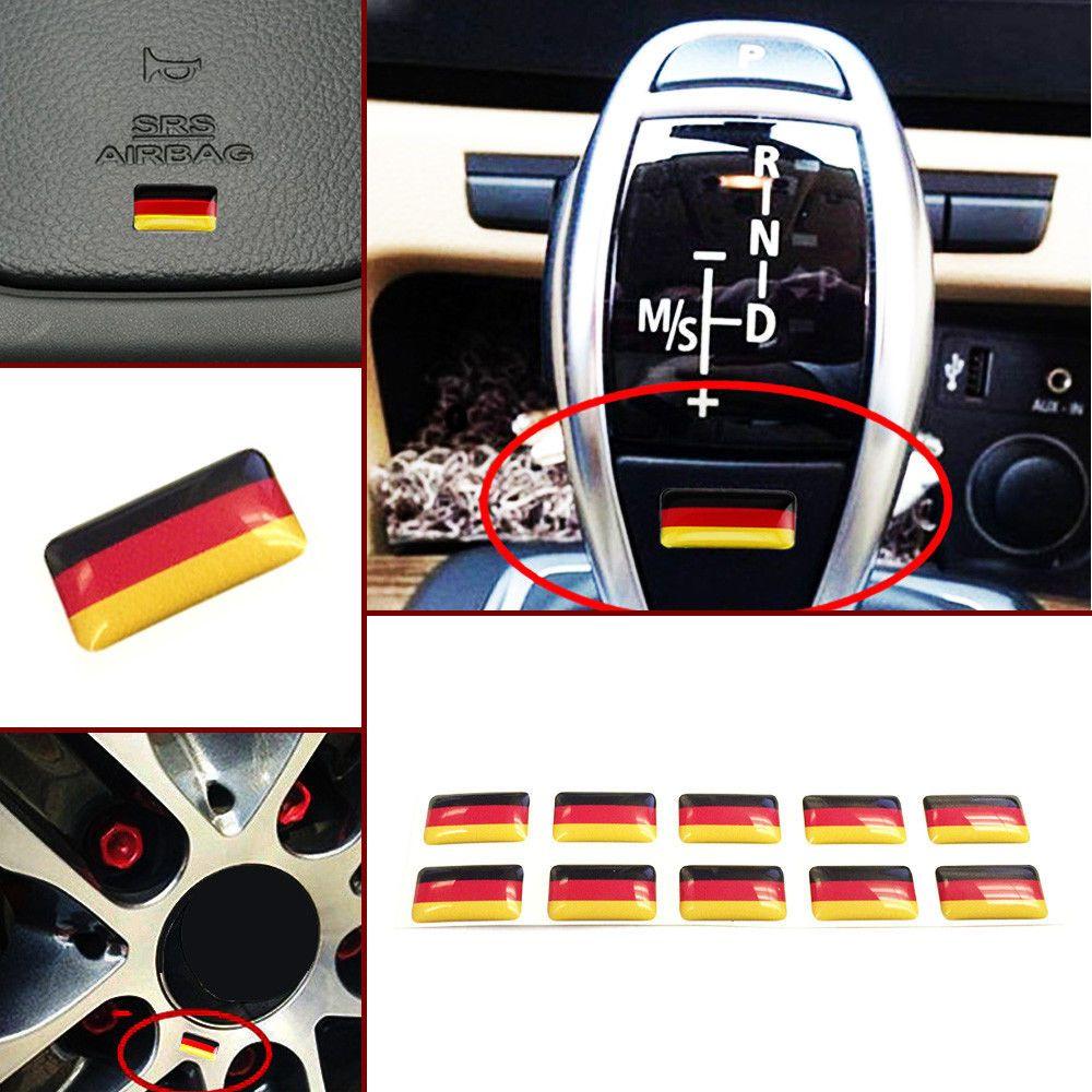 10x Germany Flag Sticker Emblem Badge Decor For German Car Audi Bmw Volkswagen Unbranded Car Gadgets Germany Flag German Cars