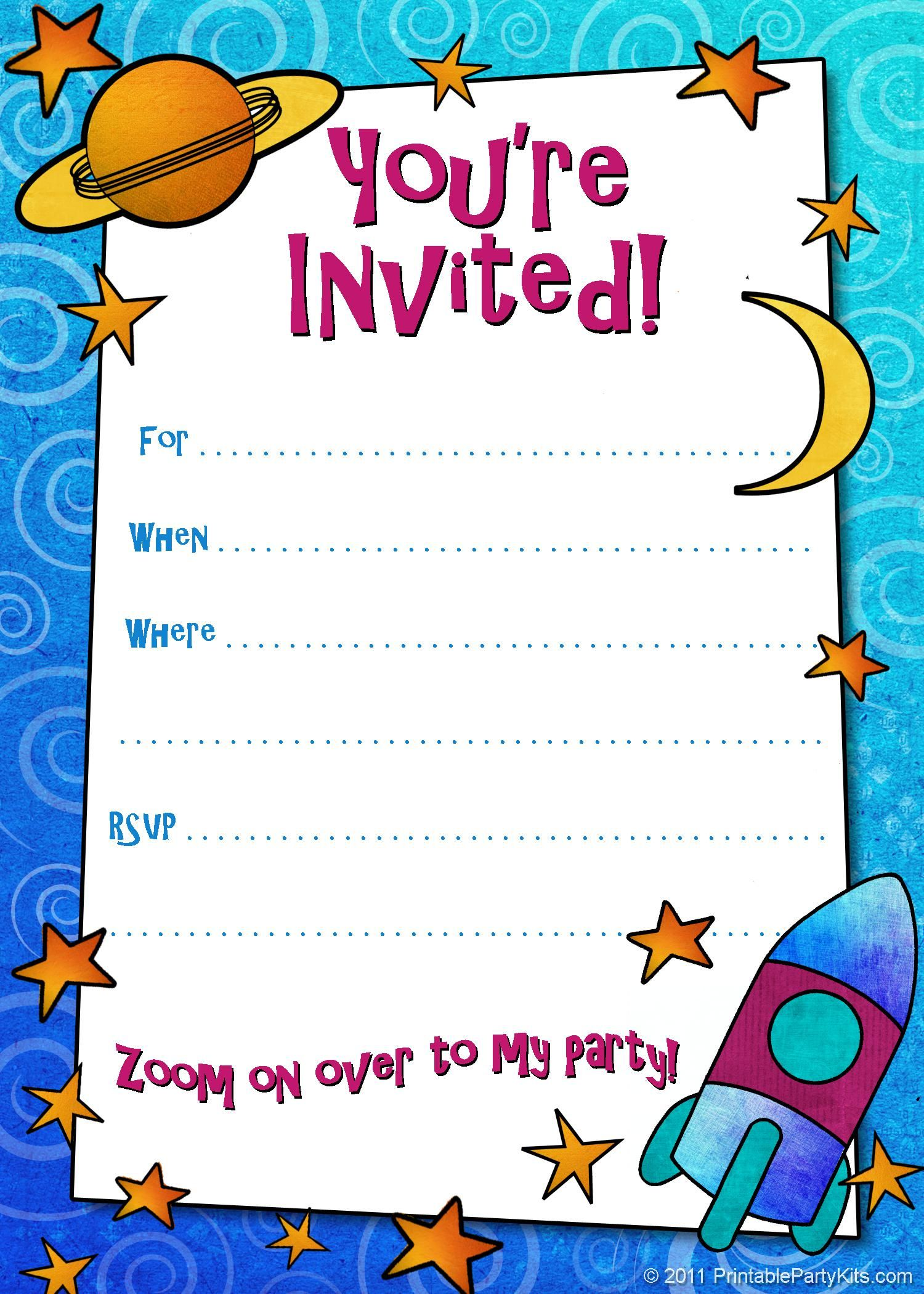 make your own birthday invitations free printable best images about ...