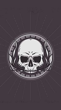 Free Bone Skull Club Mobile Wallpaper