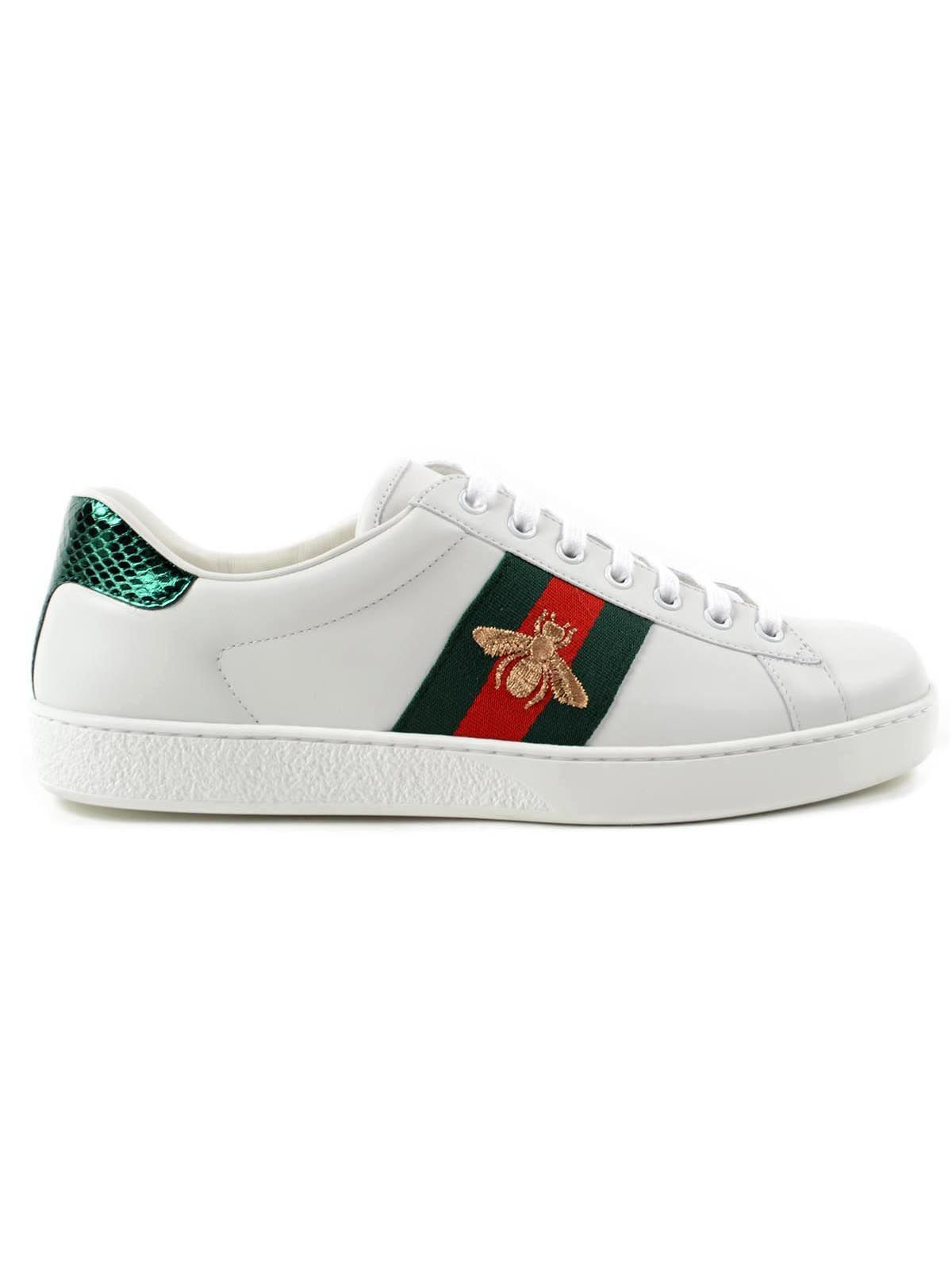 8b13a37626b6 GUCCI W ACE SNEAKERS BEE EMBR..  gucci  shoes