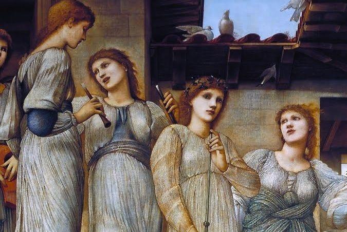 The Golden Stairs (Detail) ~ Sir Edward Coley Burne-Jones ~ (English: 1833-1898)
