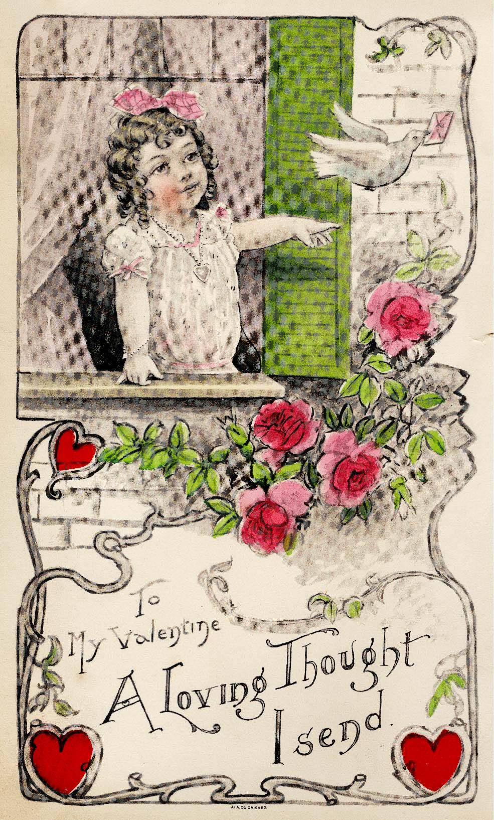 "#valentines #heart #greeting (""to Alice"" in 1917)"