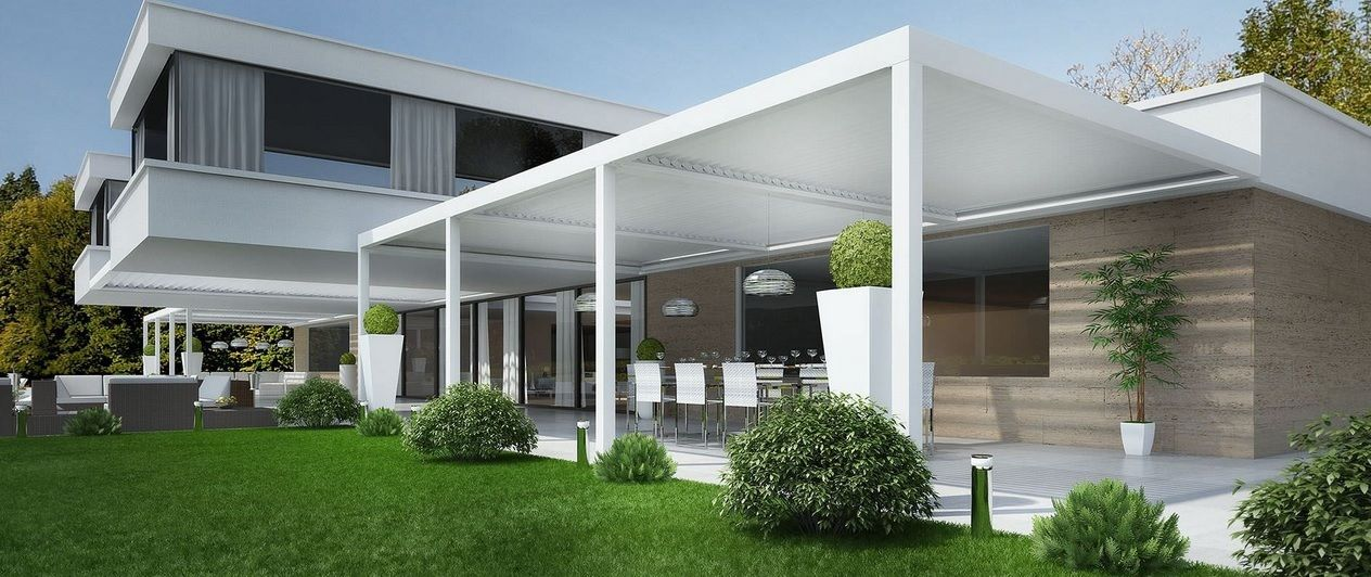 Exterior #Terraza #moderno #casas via @planreforma #muebles de ...