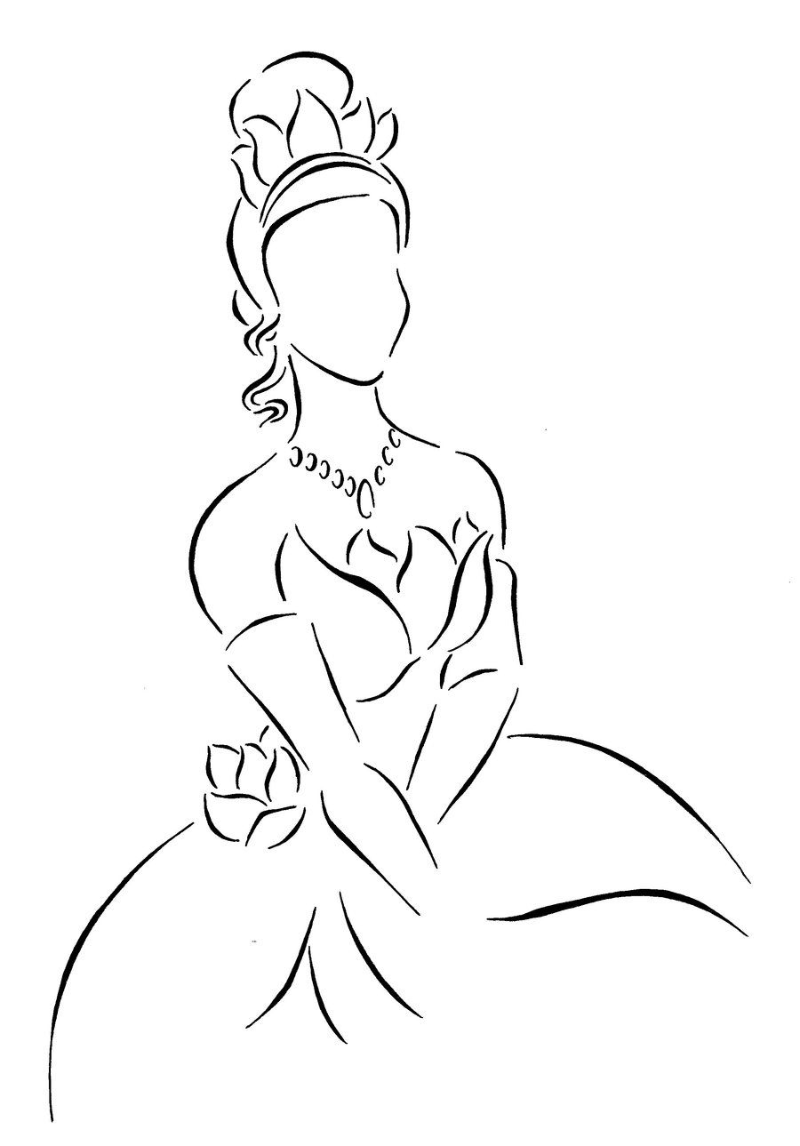 Tiana lineart by ~Kezzamin on deviantART | Disney | Pinterest ...