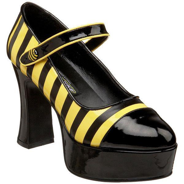 325eacc52 Funtasma Women s  Buzz-66  Black  Yellow Bumble Bee Pumps ( 45 ...