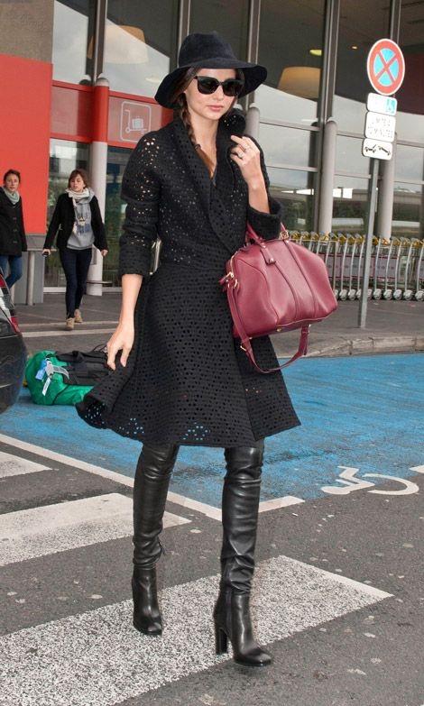 Celebrities In Boots Miranda Kerr In Alaia Thigh High Boots Paris 03 05 2012 Fashion Vogue Fashion Fashion Week Street Style