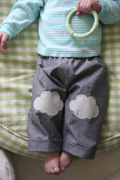 cloud knee patch pants!  // probably actually