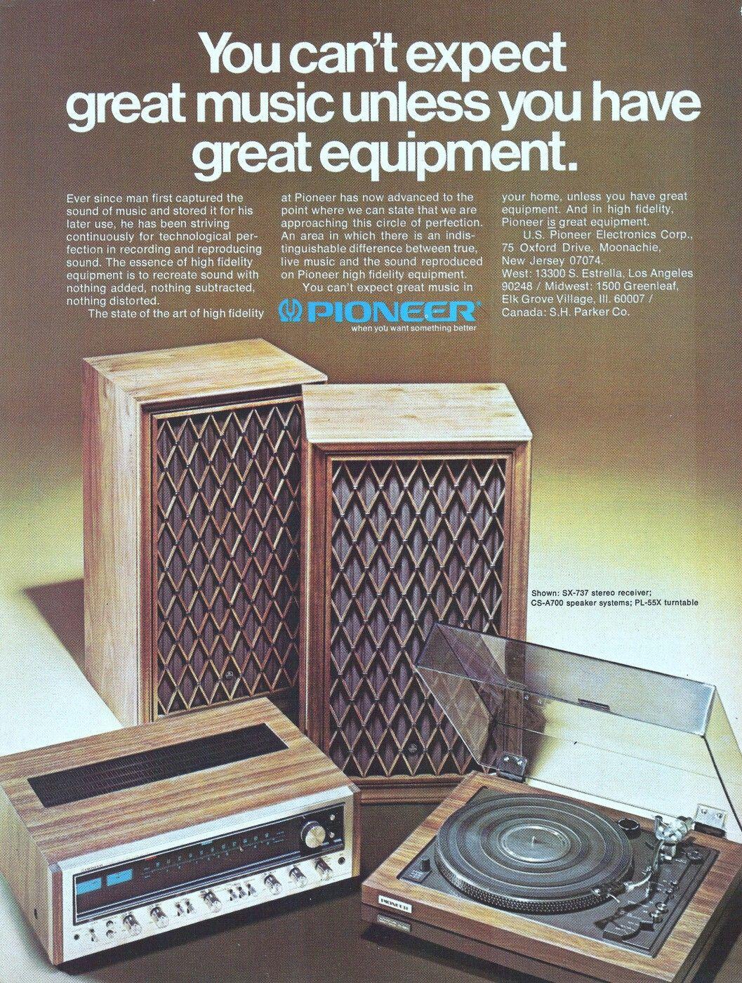 70 S Pioneer Stereo Vintage Speakers Vintage Electronics Vintage Radio