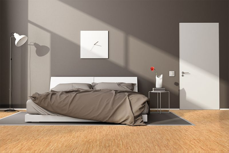 Silver Birch Floating Cork Flooring 1 2 Thick X 11 13 16 In W X 35 7 16 In L 17 44 Sq Ft Case Gray Bedroom Walls Cork Flooring Modern Bedroom