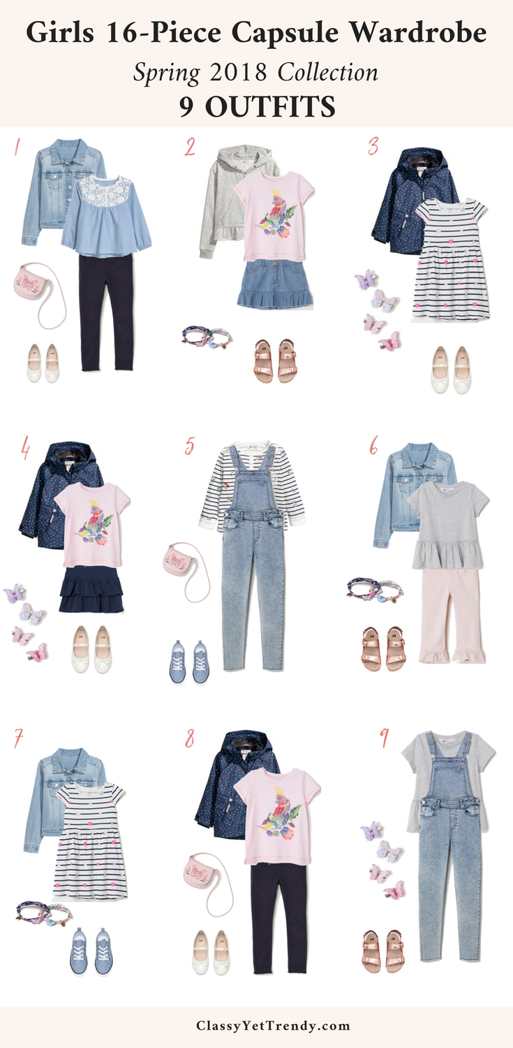 34aa9da4f516c Girls 16-Piece Capsule Wardrobe  Spring 2018 - Transform your daughter s  closet with this complete wardrobe plan for the season