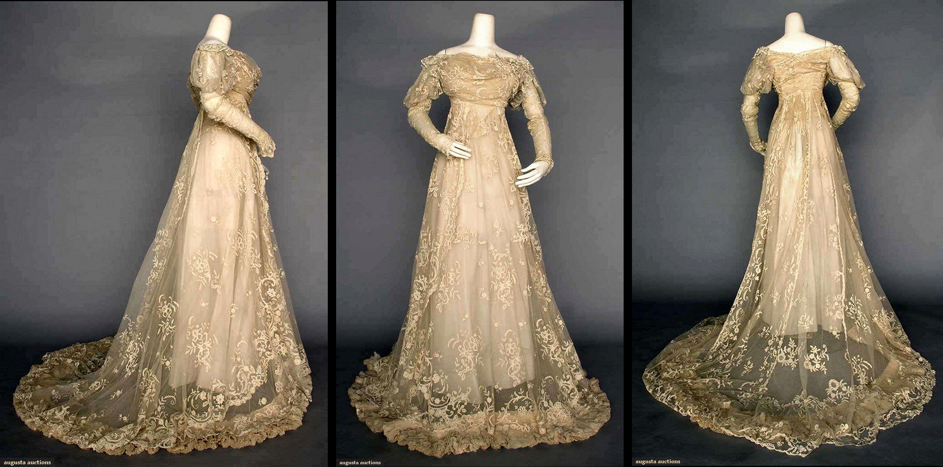 Lace wedding gown paris c clothes edwardian