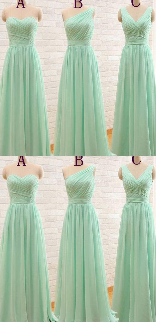 Discount alineprincess bridesmaid dresses long sage dresses with
