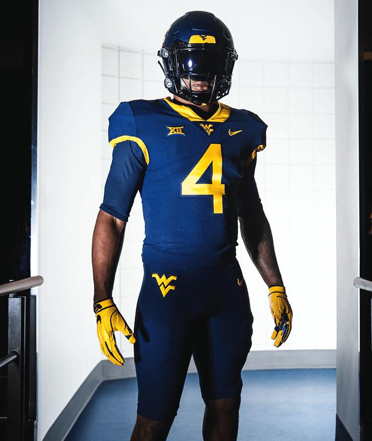 2019 West Virginia Mountaineers football uniforms — blue