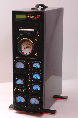 Love the dials - looks like a control center of some sort.