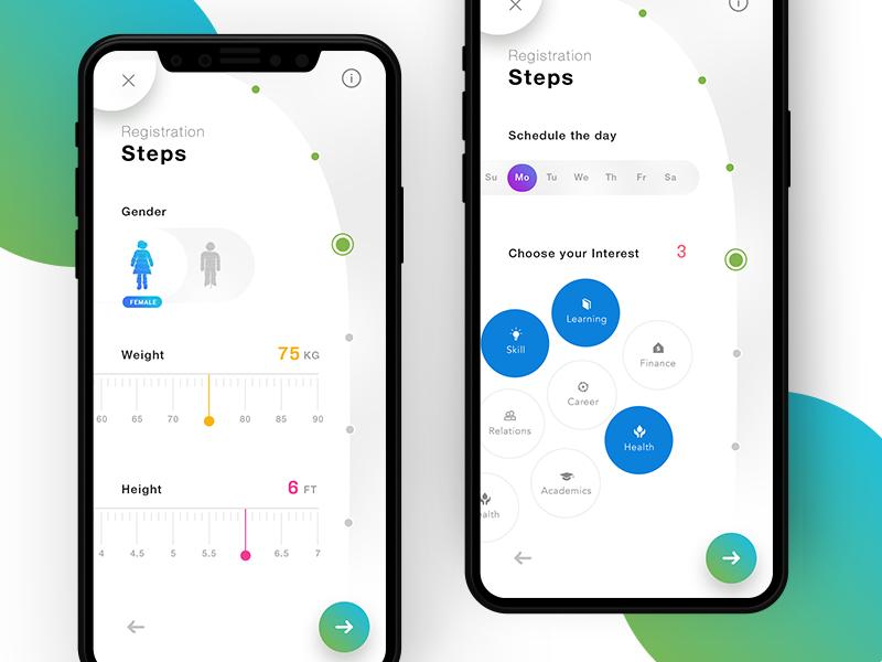 Registration Steps Ux Mobile App Design Inspiration Ios Design Mobile App Design