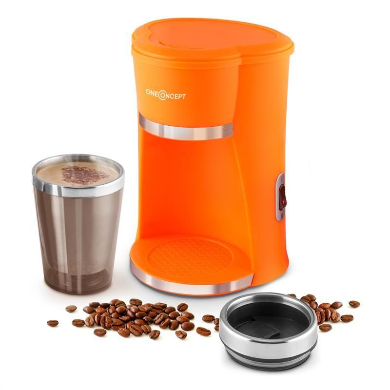 oneConcept Raffinato Arancio Schnellkoch Kaffeemaschine 300ml ...