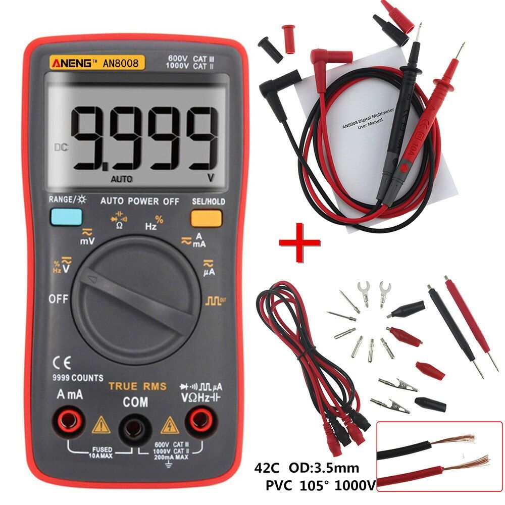 Aneng An8009 True Rms Digital Multimeter Tester In 2020 With Images Multimeter Best Kids Watches Digital