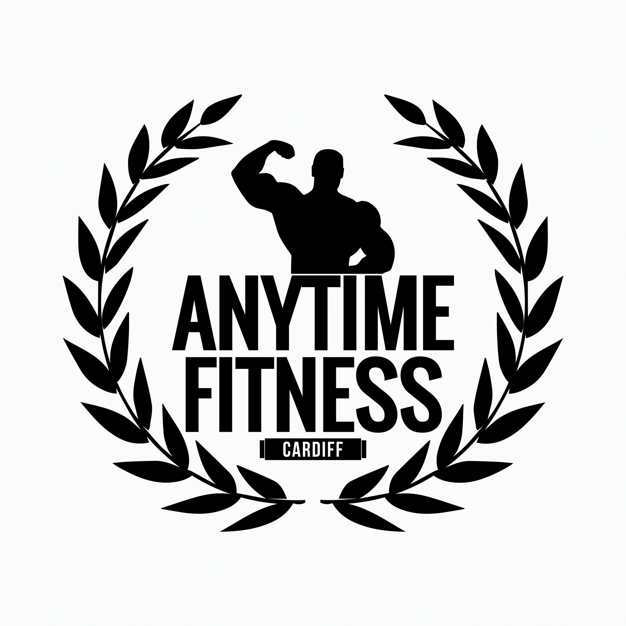 Anytime Fitness Gym Logo Idea Made With Illustrator