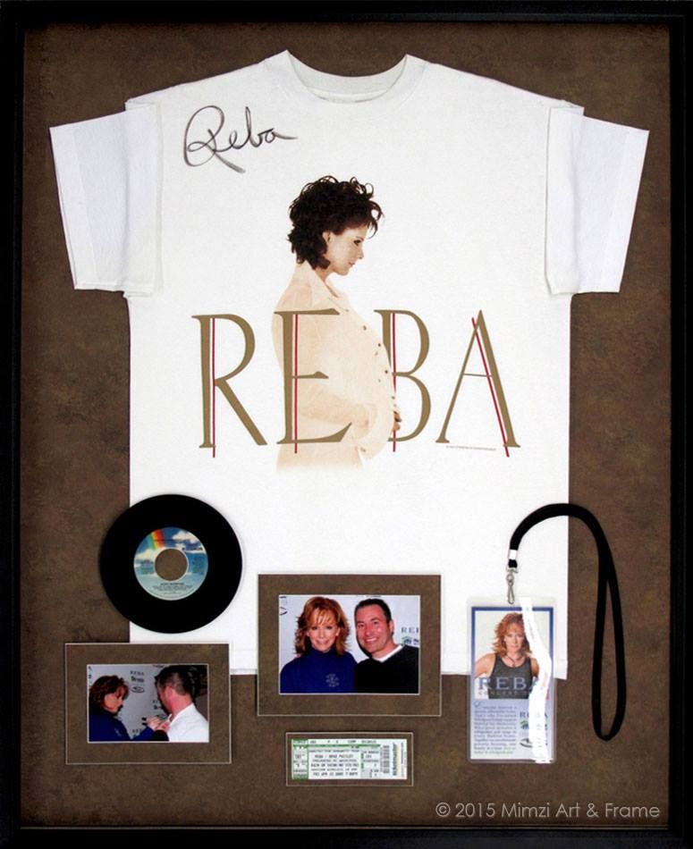 Frame that signed T-shirt that you bought at your favorite concert ...