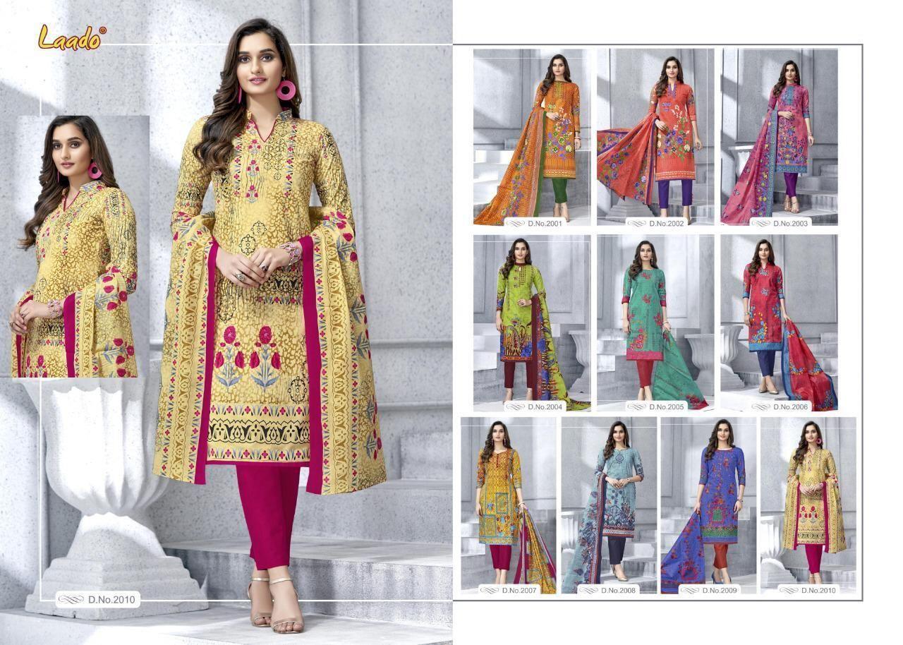 2268b58790 Laado Presents Mehzabeen Vol 2 Karachi Lrinted Cotton Suit Catalogue From Surat  Supplier | Kapdavilla: Keeping India's Tradition