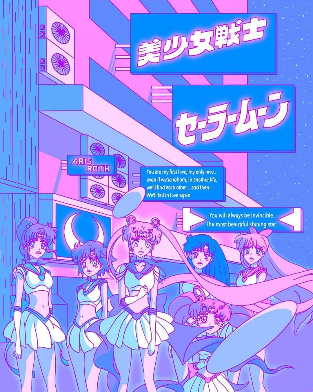 Digital artist Aris Roth Aesthetic anime, Vaporwave
