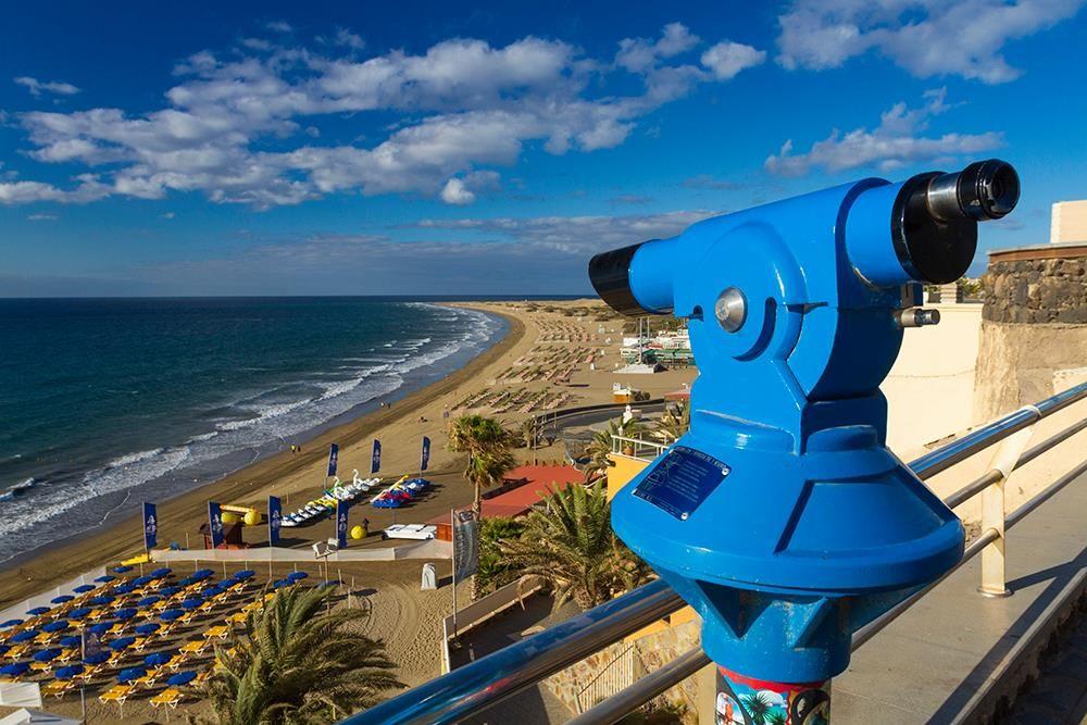 Playa Del Ingles Beach Is One Half Of The Huge Sand Beach And Dune