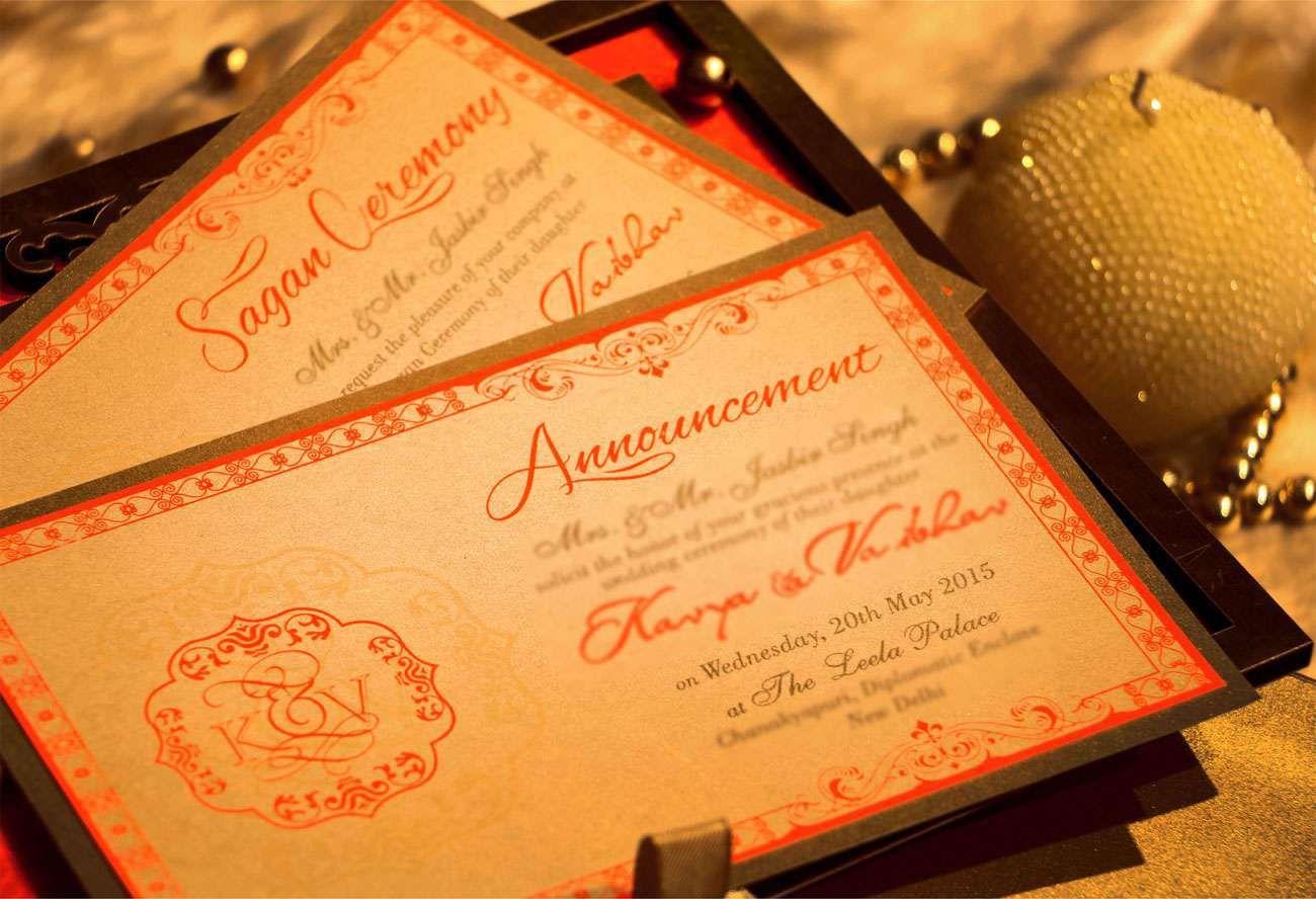 VWI New Delhi ELEGANTORAGE10013 Wedding card designer