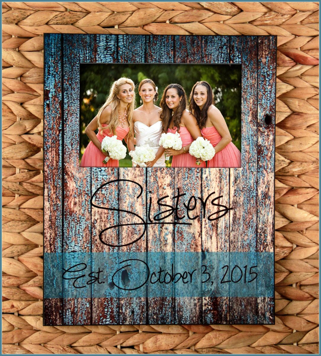 Sisters Custom Photo Frame, New Sister In Law Gift