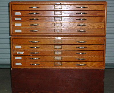 Mayline Wooden Mapfile Map Drafting File Cabinet