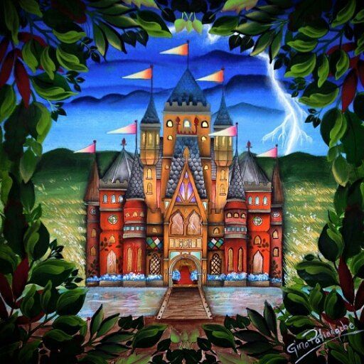 "by Thainá on Instagram: ""Castelo da querida Gina Pafiadache! Do livro Floresta Encantada. #livrodecolorir #colorir #colorindo #colorido #livroparacolorir #pintar…"""