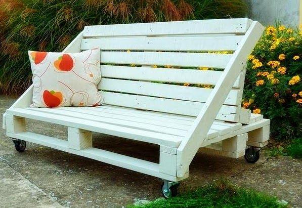 Sofa Con Ruedas Hecho Con Palets Reciclados Reciclaje De Palets Muebles Con Palets Muebles Con Tarimas