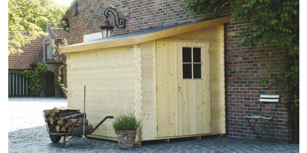 Abri de jardin adossable 5 m² - bois 28 mm PEFC | jardinage ...