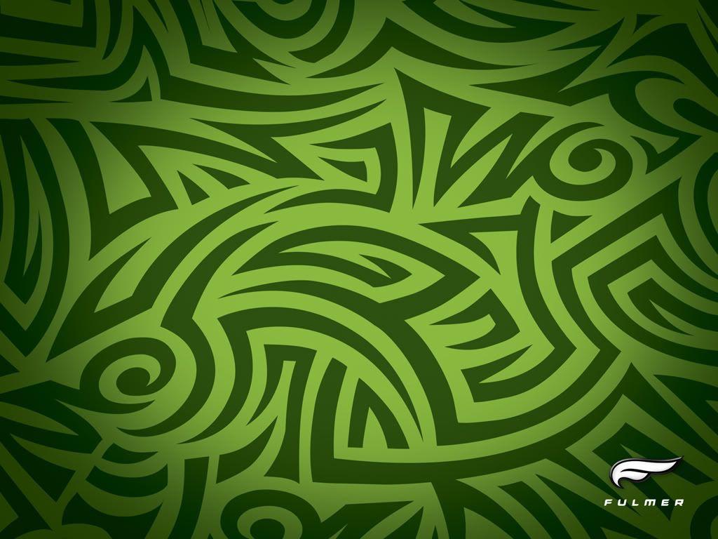 Green tribal design green tribal green wallpaper - Green design ...
