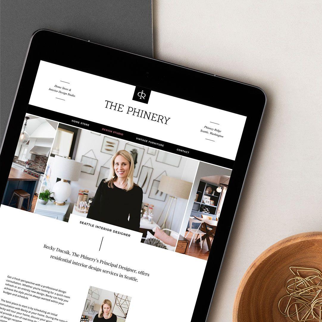 Interior Designer Custom Website Design For The Phinery Responsive Website By Taney Creative In 2020 Custom Website Design Website Design Business Design