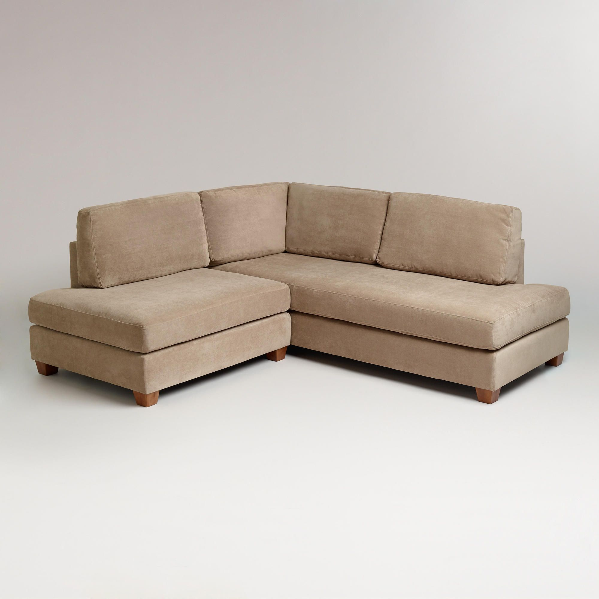 Putty Wyatt Sectional Sofa From Cost Plus World Market Small Sectional Sofa Sofas For Small