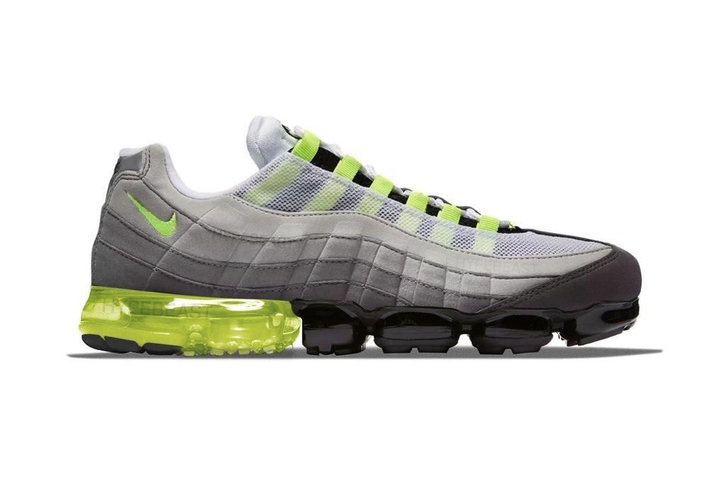 sports shoes 1dbb4 a5e6a Nike が発売を目論む Air Max 95 x Air VaporMax のビジュアルが浮上 AIRの系譜を代表するスニーカーブームの火付け役にもフルレングスのビジブルエアが寄生  ナイキ ...