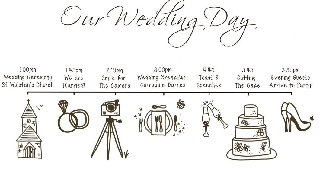Wedding Day Timetable  Wedding Timeline Final List Printable