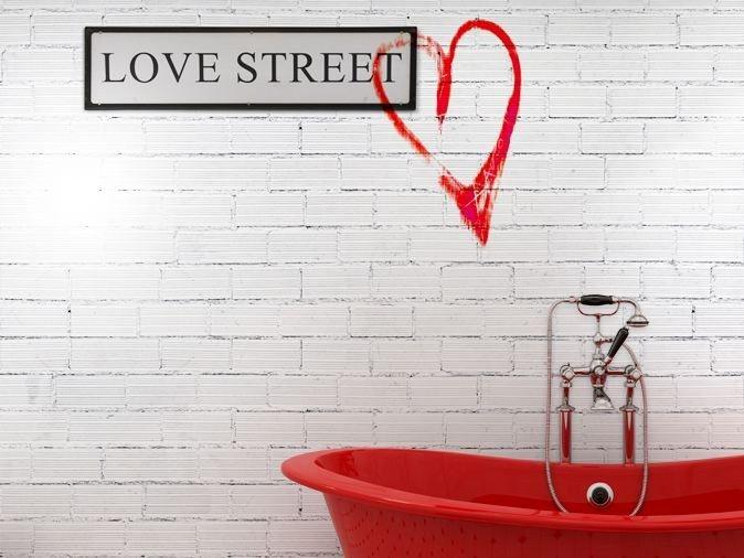 Papier peint aspect brique en vinyle LOVE STREET by GLAMORA MURS