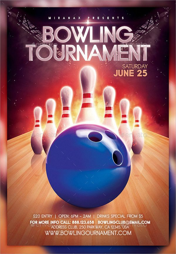 photoshop-PSD-Bowling-Flyerjpg (600×862) Bowling Tournament - bowling flyer template