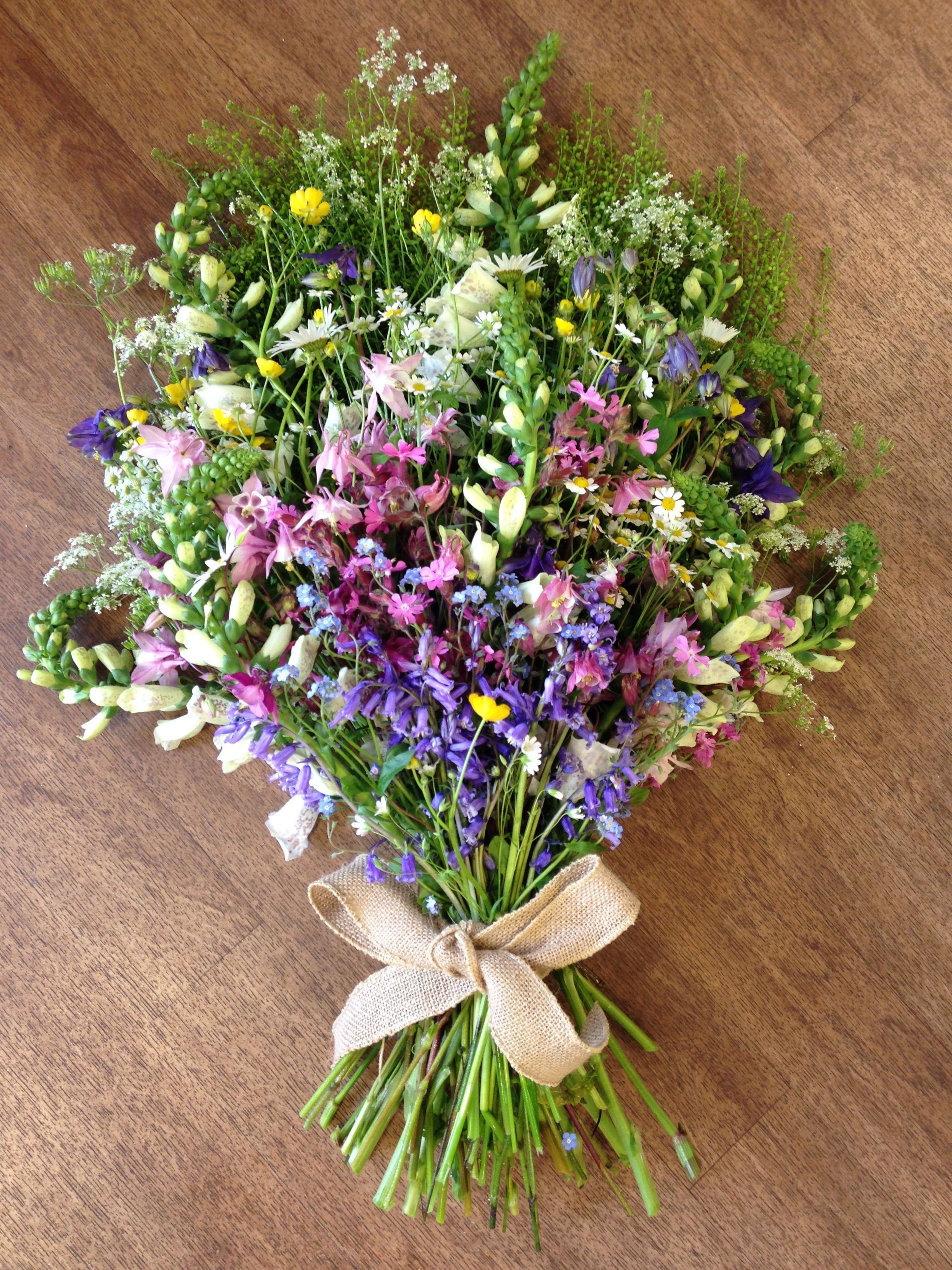 An Informal Collection Of Wild Flowers For A Funeral Sympathy