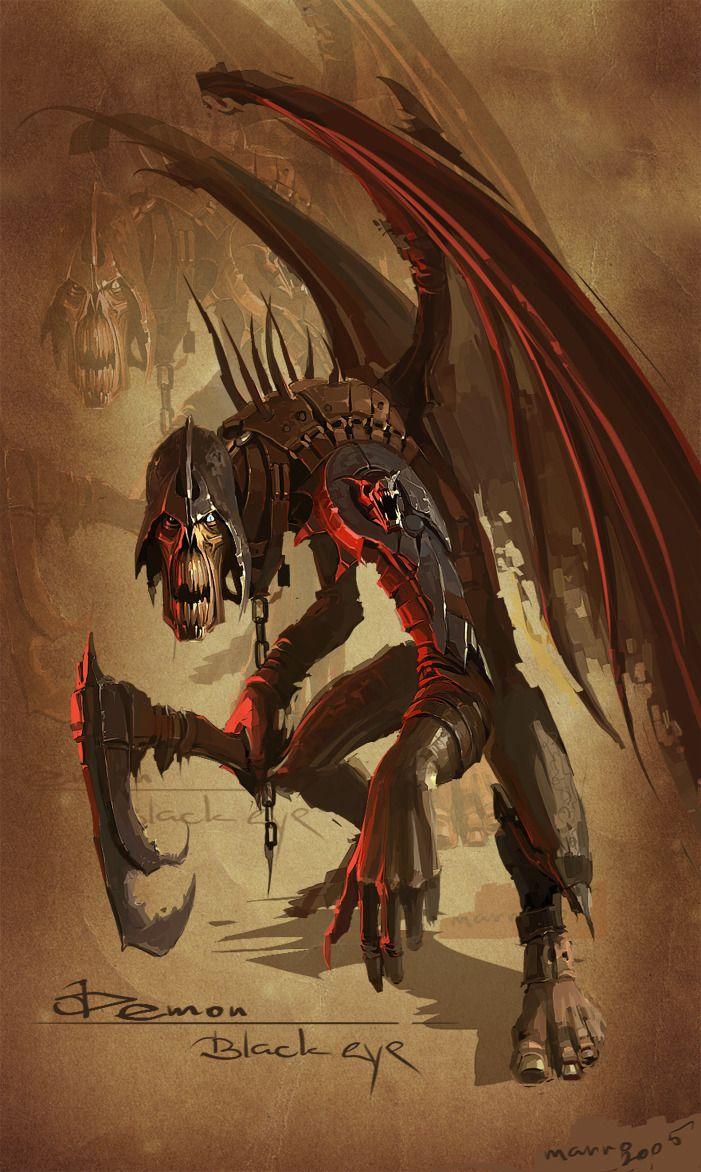 "Demon ""Black eye"" 2005 by Marat-Ars"